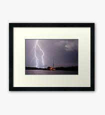 Ballina Ferry Lightning Framed Print