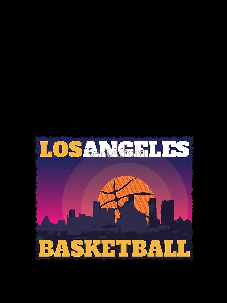 Los Angeles Basketball T-Shirt by KentAfford