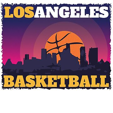 Los Angeles Basketball T-Shirt by KentAfford
