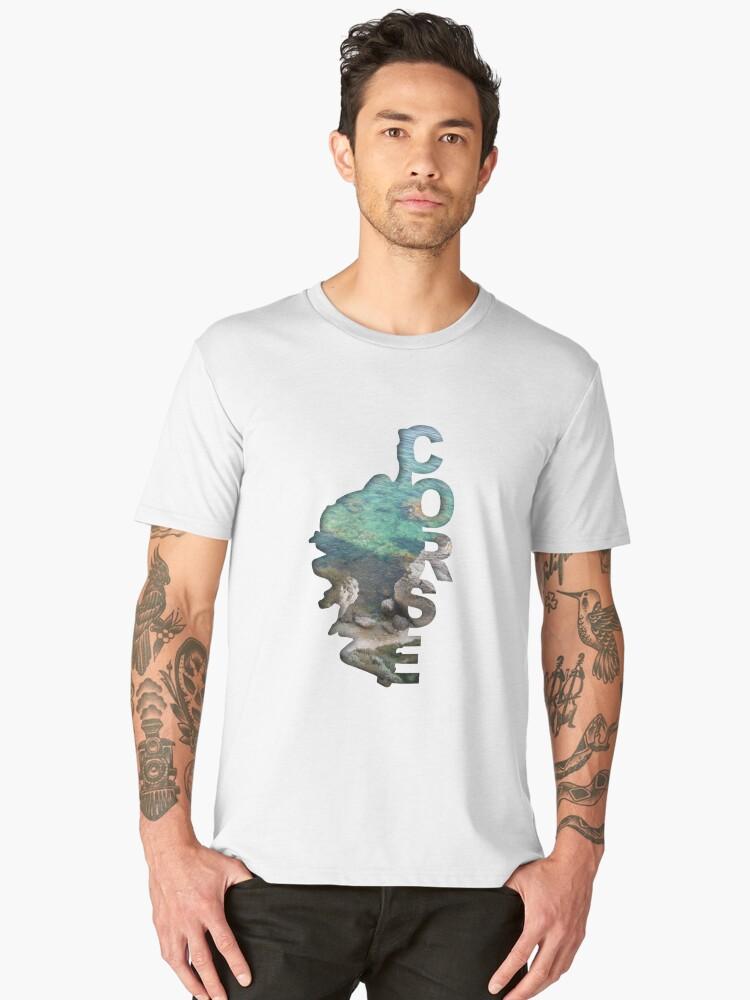 Corsica Men's Premium T-Shirt Front