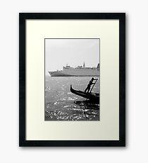Two Boats, Venice Italy. Framed Print