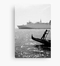 Two Boats, Venice Italy. Canvas Print