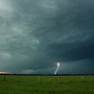 Casino Shelf Cloud and Lightning by Michael Bath