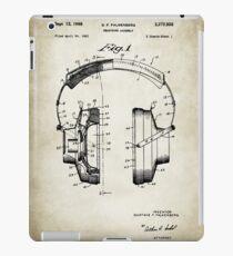 Headphones poster iPad Case/Skin