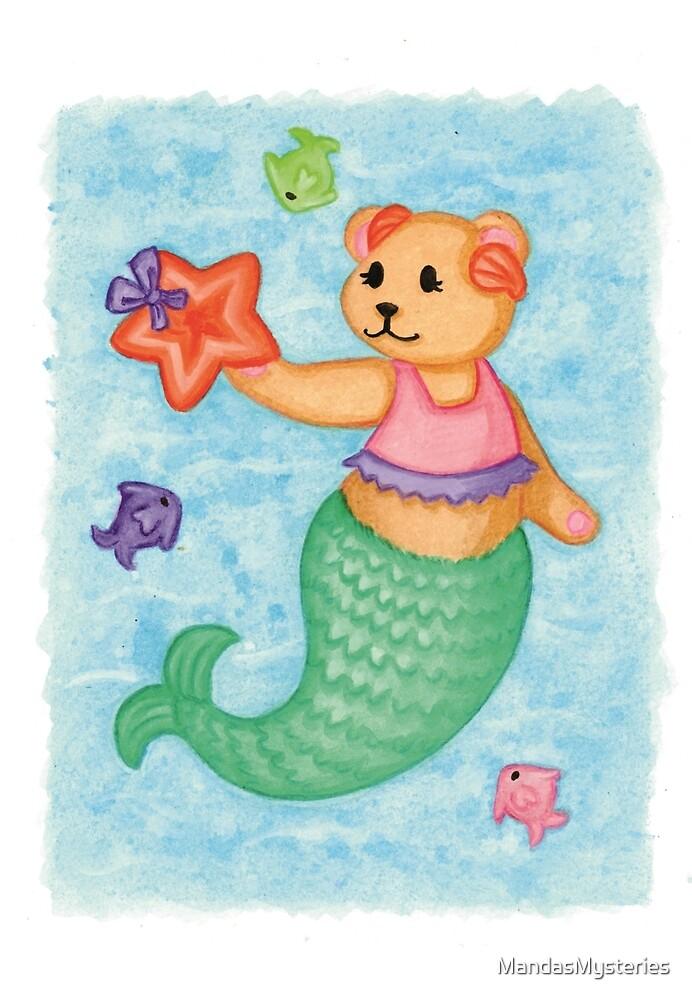 Mermaid Teddy by MandasMysteries