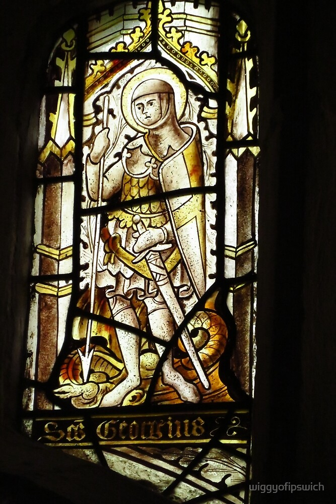 The Knight - C15th Stained Glass by wiggyofipswich