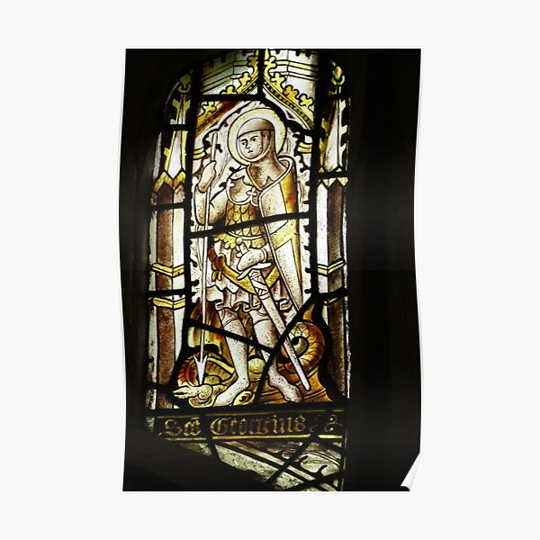 The Knight - C15th Stained Glass Poster