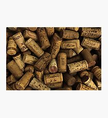Wine Bottle Corks Background Texture Photographic Print