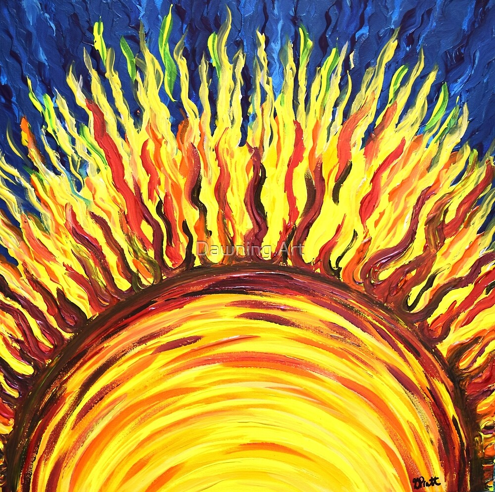 Sun Burst by Dawning Art