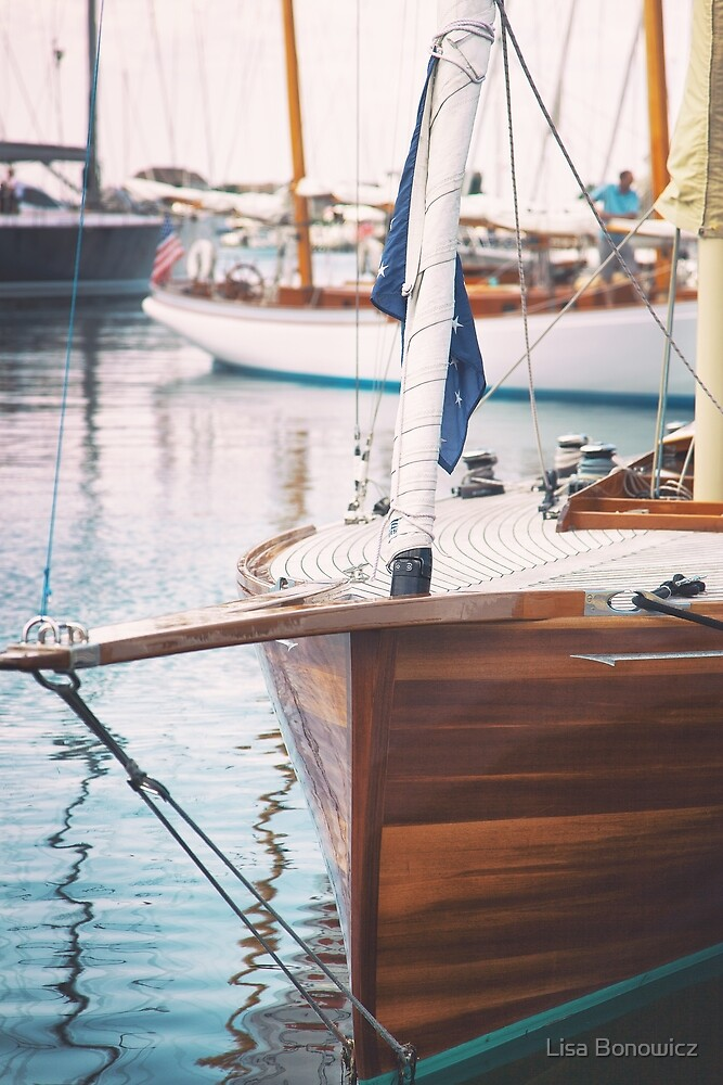 Wooden Sailboat  by Lisa Bonowicz
