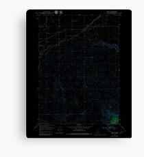 USGS TOPO Map Idaho ID Rigby SE 237866 1950 24000 Inverted Canvas Print