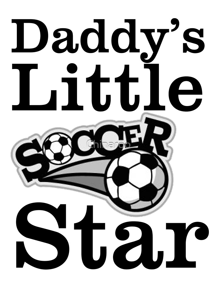 father dad soccer star gift, birthday football sports t shirts by Chinaroo