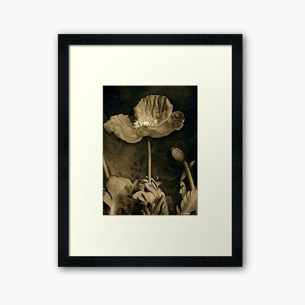Poppy Tapestry Framed Art Print