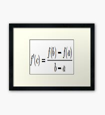 I hate Calculus Framed Print