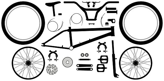 Bmx Bike Parts Posters By Frazza001