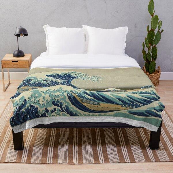 Japanese Wave Kanagawa Japan Throw Blanket
