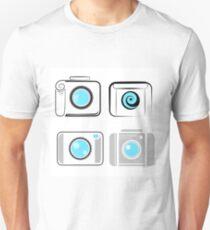 Set of Digital Camera  Icons  Isolated on White Background T-Shirt