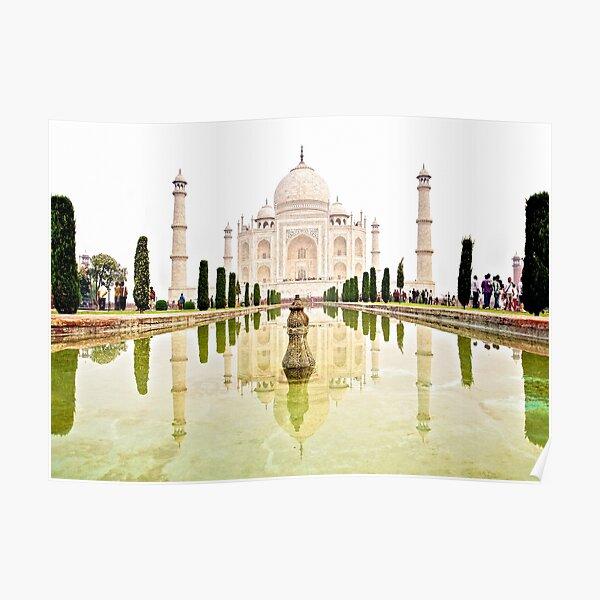 The Taj Mahal at Sunrise in November  Poster