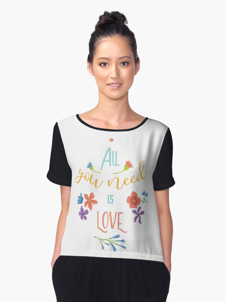All you need is love Women's Chiffon Top Front
