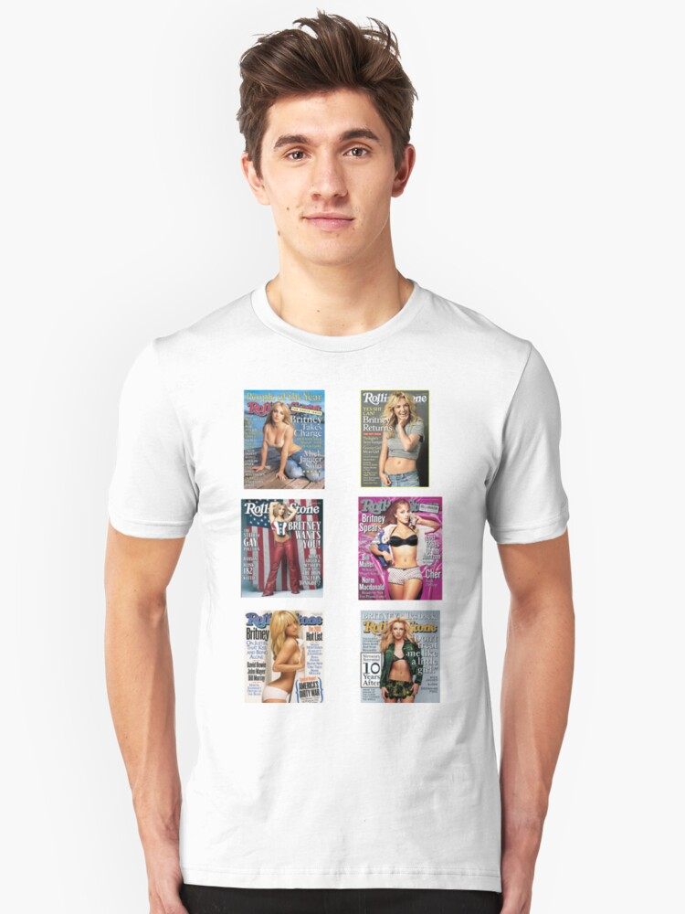Britney Rollingstone Sticker Pack Unisex T-Shirt Front