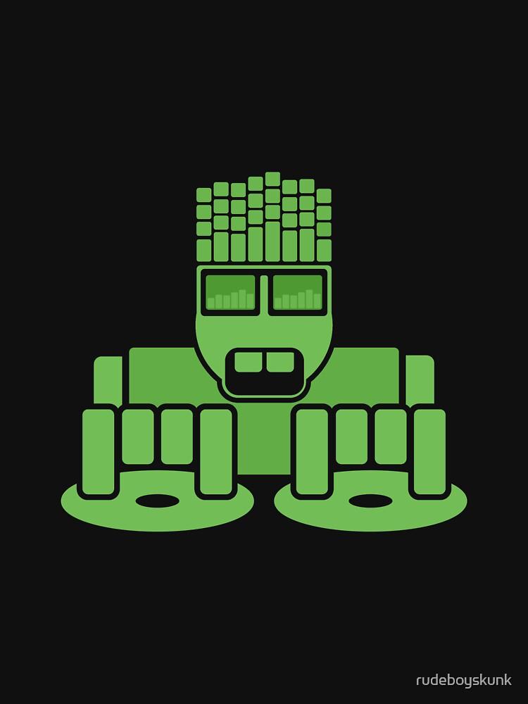 DJ Equalizer (Green Print) by rudeboyskunk