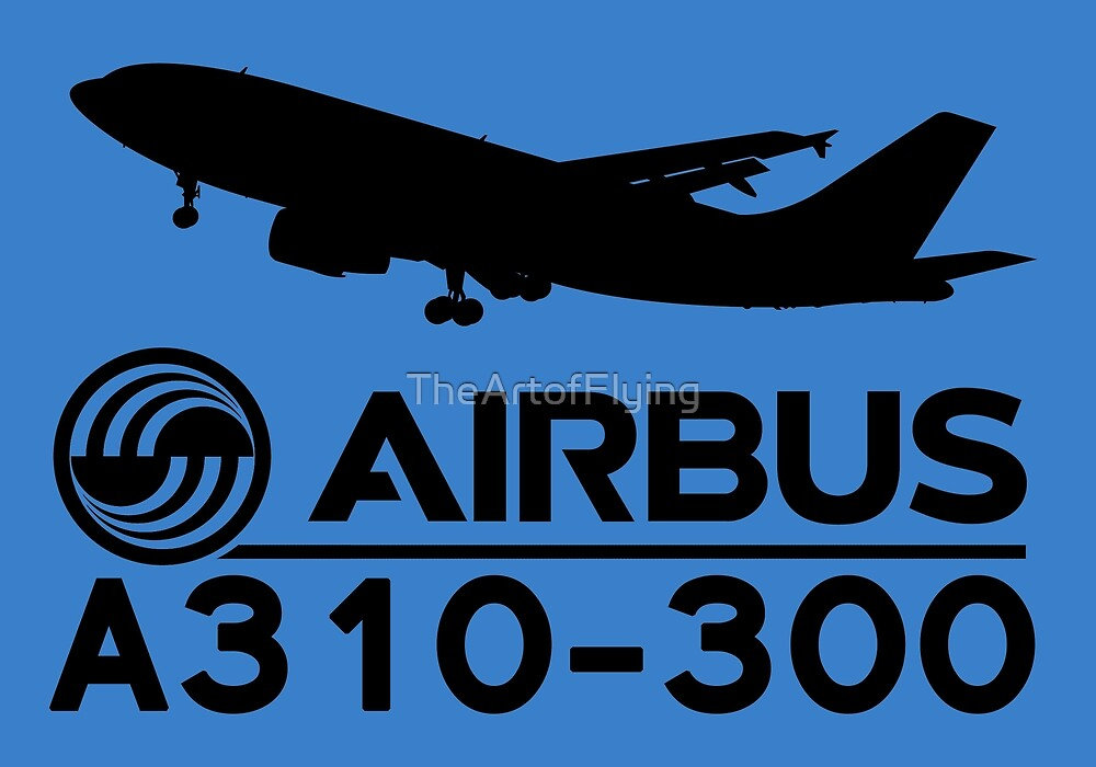 Airbus A310-300 - Silhouette (Black) by TheArtofFlying