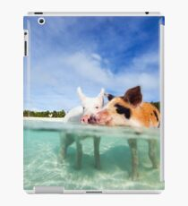 Cute Pigs in the sea iPad Case/Skin