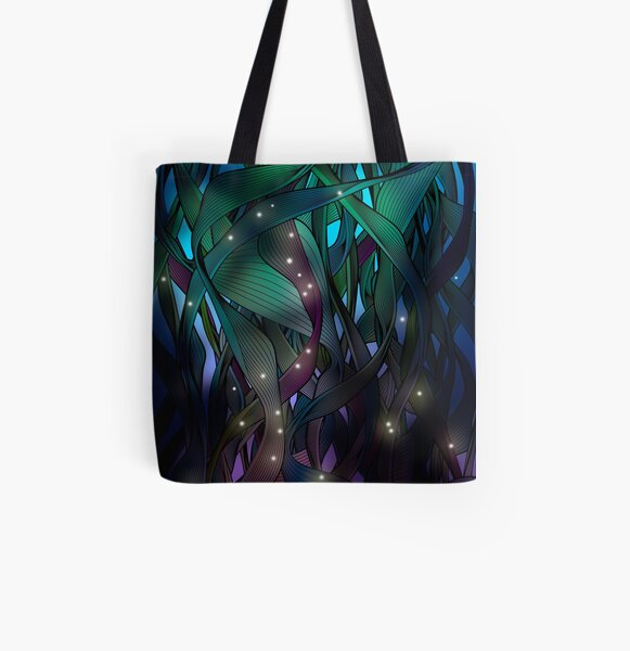 Nocturne (with Fireflies) All Over Print Tote Bag