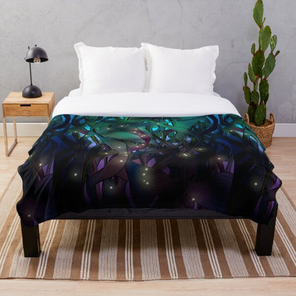 Nocturne (with Fireflies) Throw Blanket