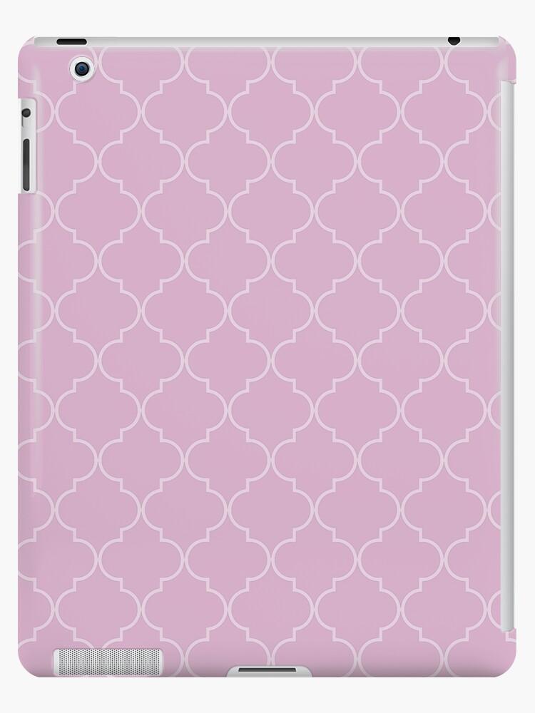 Pink Lavender Quatrefoil by VigilanteSilver