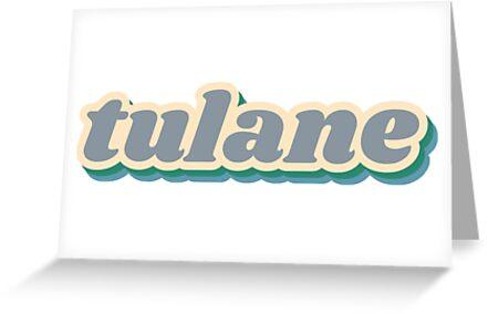 Tulane University Retro Sticker by Emma Vaughters