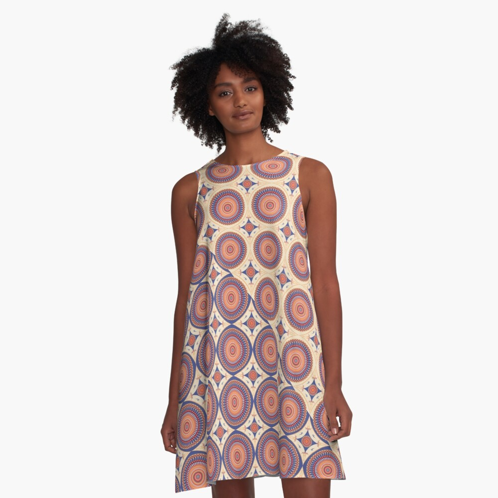 AFE Mandala 3 A-Line Dress Front