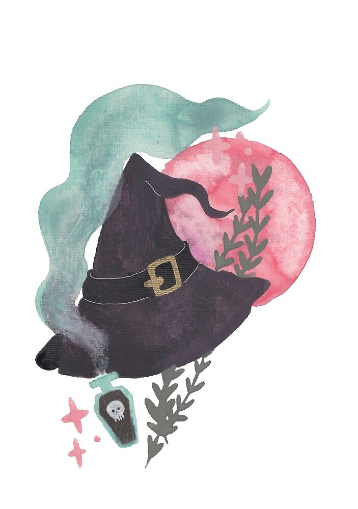 Witch's hat by amyillustrated