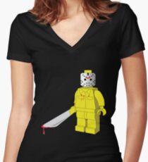 HORROR FIGURE Women's Fitted V-Neck T-Shirt