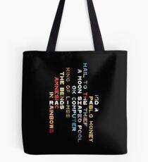 Radiohead Discography Tote Bag