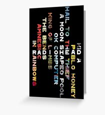 Radiohead Discography Greeting Card