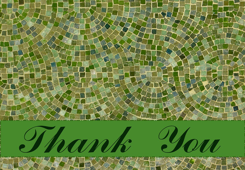 Thank You Green Tile Card by donnagrayson