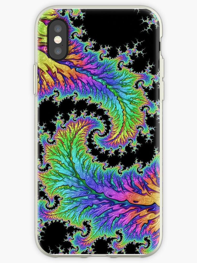 Rainbow Fractal Swirl by Katie K
