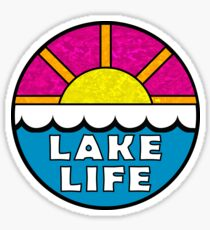 Lake Life Lakes Boating Fishing Outdoors Nature Houseboat Jet Skis Sticker