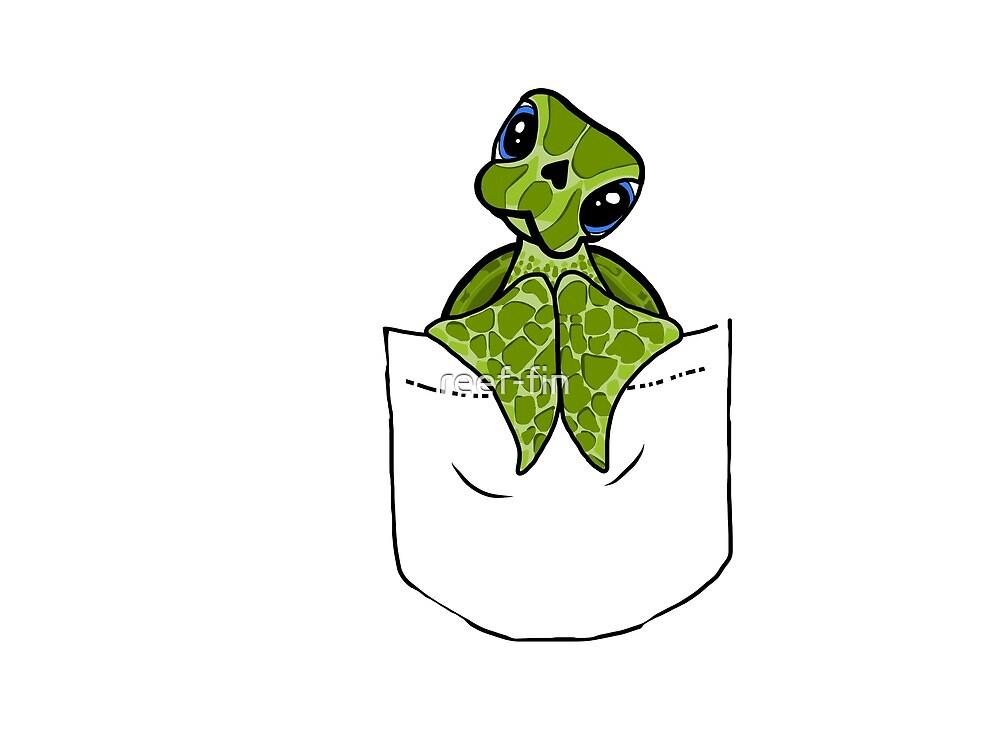 Pocket friend turtle by reef-fin