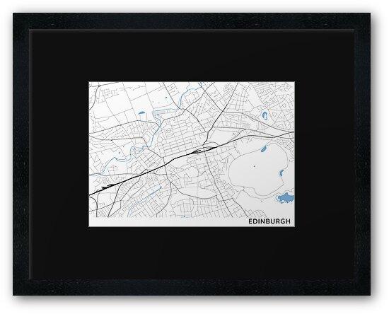 Edinburgh minimalist line map by linemaps