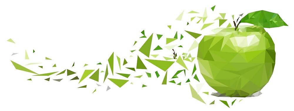 Poly Apple Art by leafskyr0531