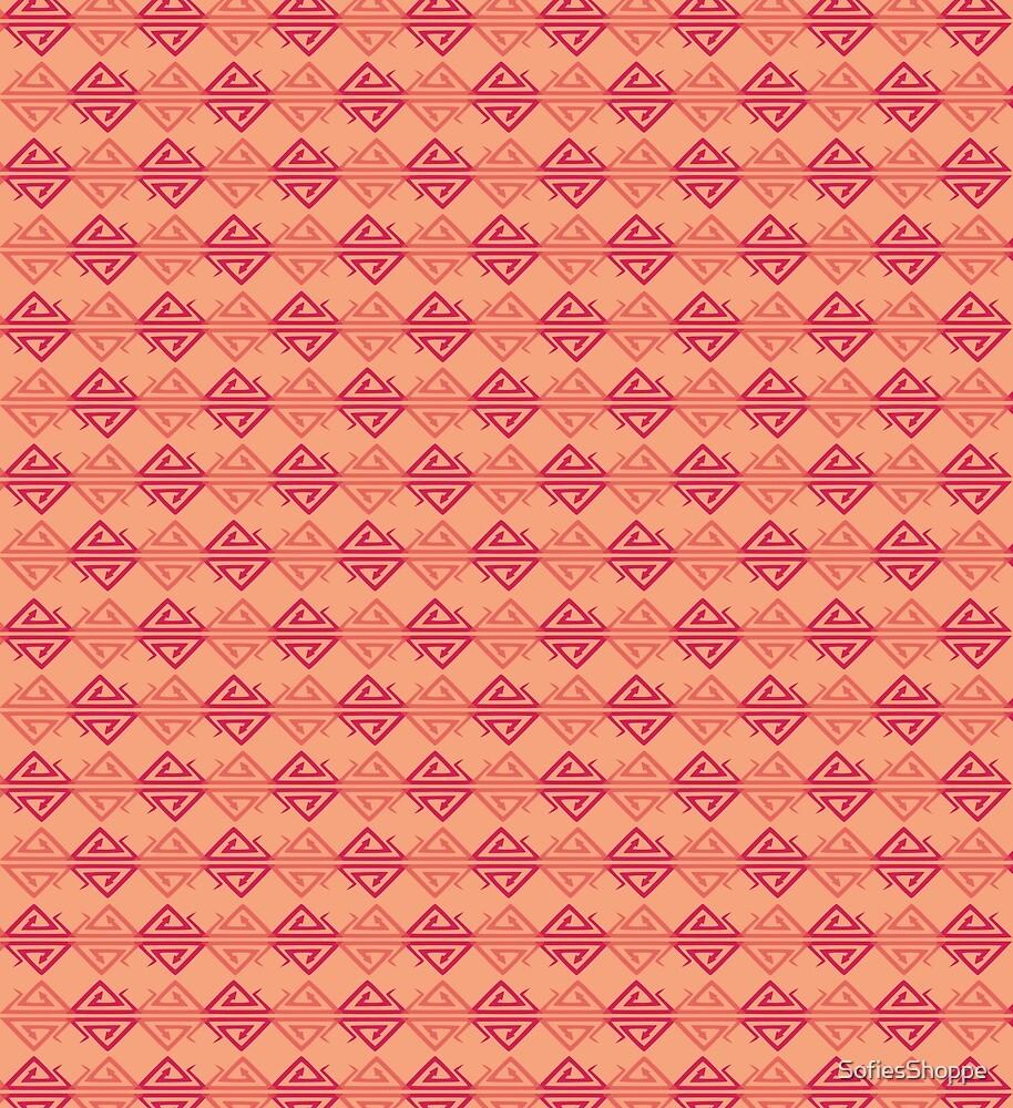 Desert Snake Diamond Harlequin Pattern by SofiesShoppe