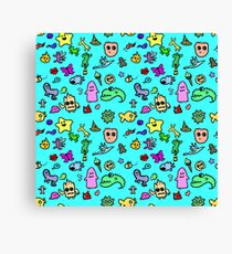 Cute Characters Pattern Canvas Print