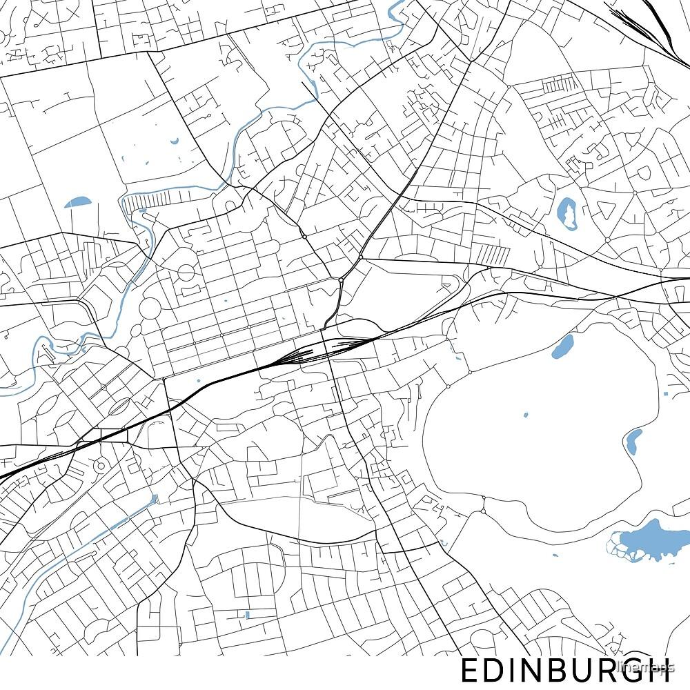 Edinburgh minimalist line map (square) by linemaps