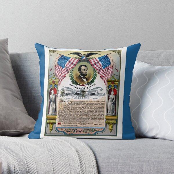 Unique Abraham Lincoln Emancipation Proclamation  Throw Pillow