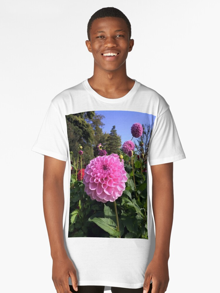 Pink Floral  Long T-Shirt Front