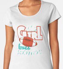 This Girl Loves Football Women's Premium T-Shirt