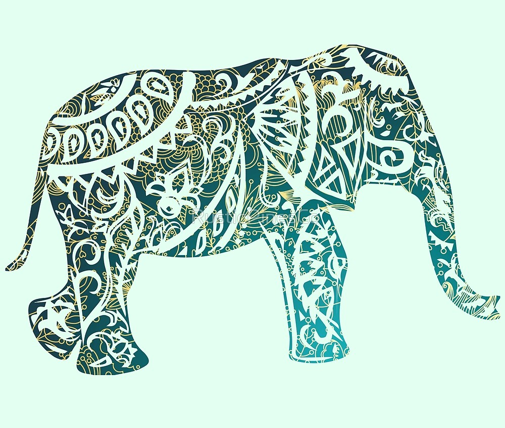 Boho Mandala Elephant // Weekend Originals Collection by RusticPinesCo