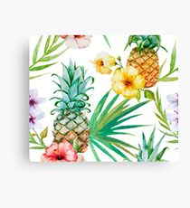 Pineapple hibiscus Canvas Print
